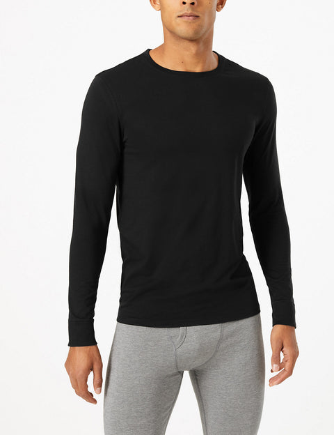 2 Pack Heatgen™ Cotton Long Sleeve Thermal Tops