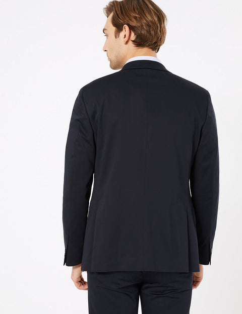 Slim Fit Cotton Jacket with Stretch