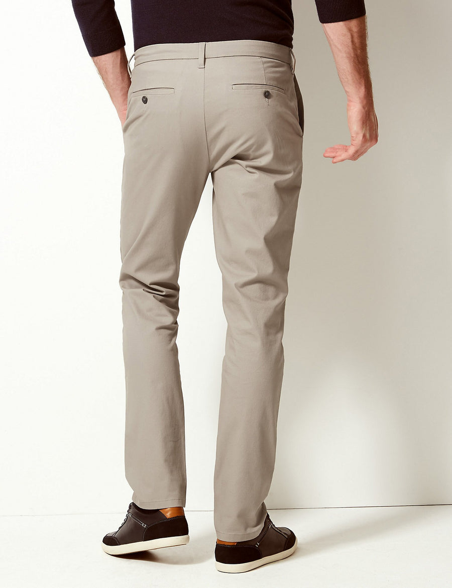 Slim Fit Chinos with Stretch