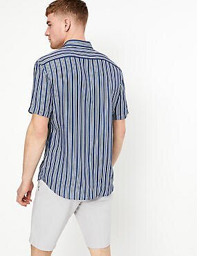 Denim Striped New Regular Fit Shirt