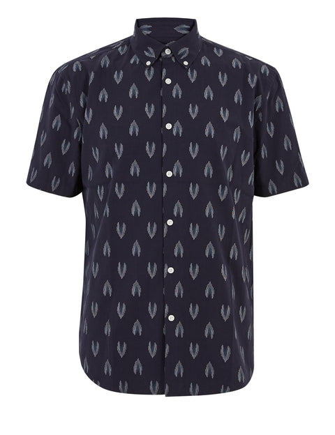 Pure Cotton Ikat Print Shirt