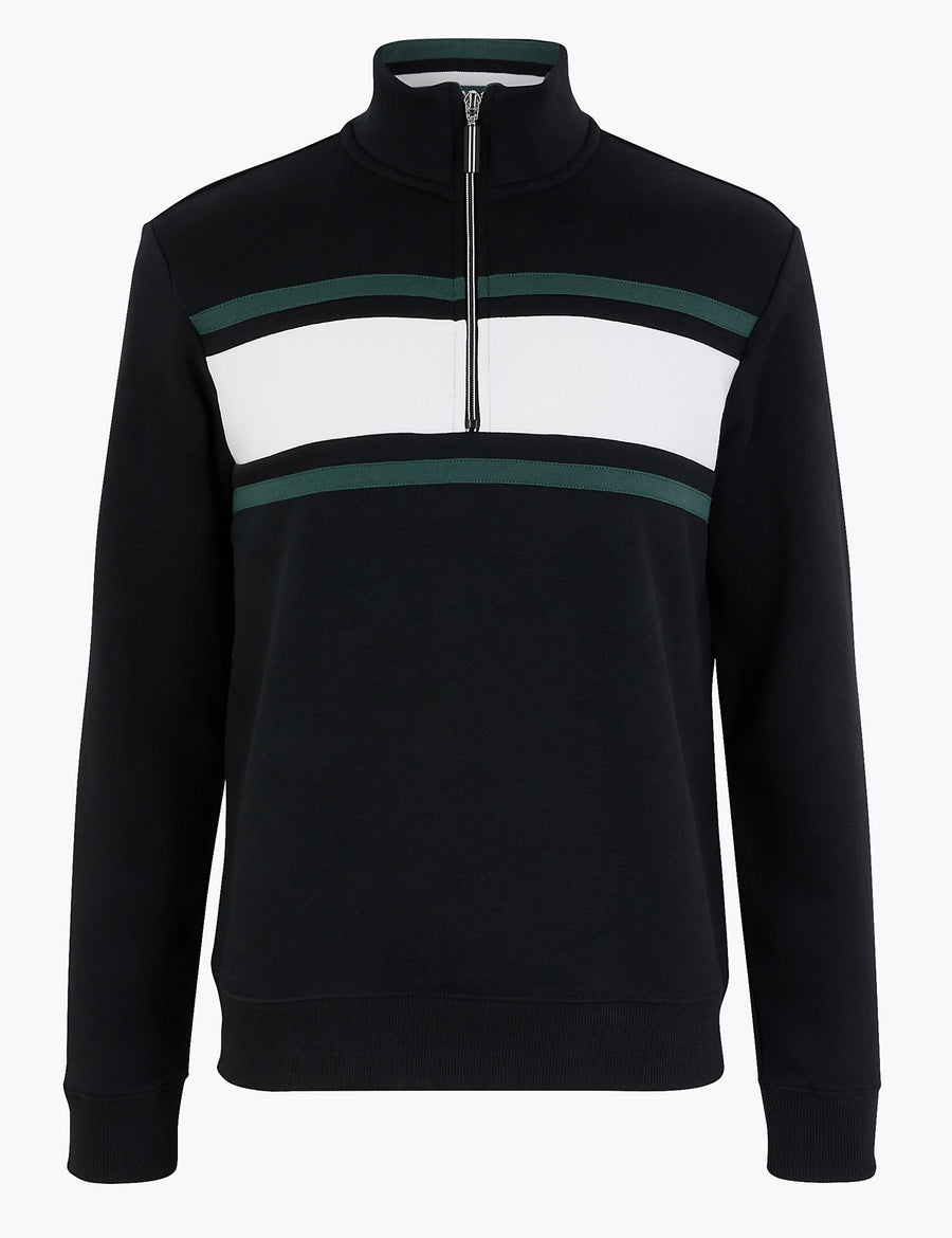 Cotton Rich Half Zip Sweatshirt