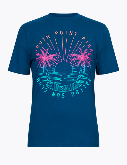 Regular Fit South Point Pier Graphic T-Shirt