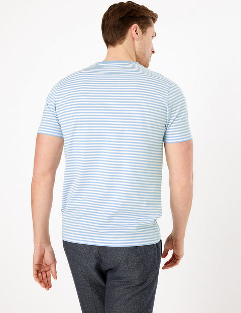 Premium Cotton Striped T-Shirt