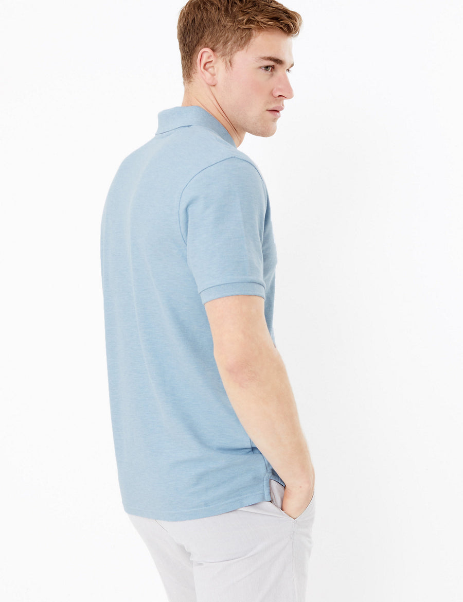 Pure Cotton Polo Shirt
