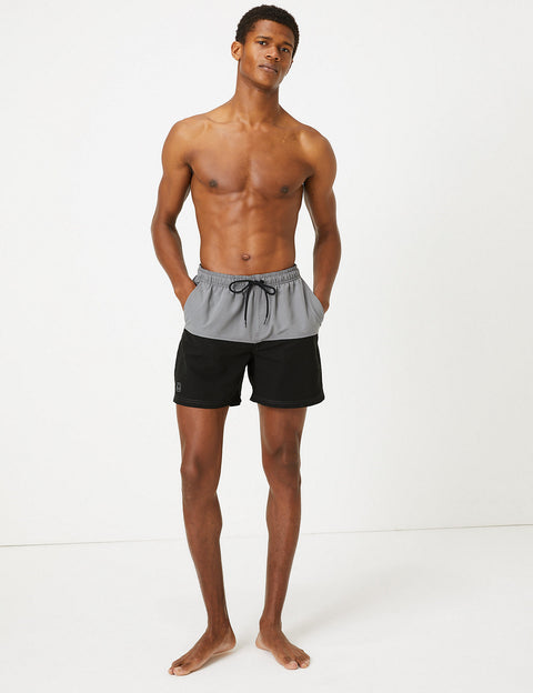 Quick Dry Colour Block Swim Shorts
