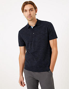 Cotton Rich Short Sleeve Knitted Polo Shirt