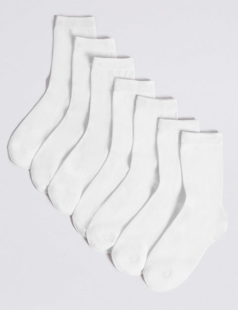 7 Pack of Ankle School Socks