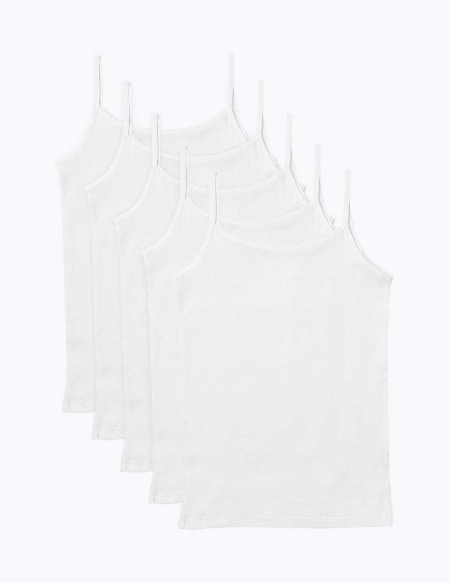 5 Pack Pure Cotton Camisoles