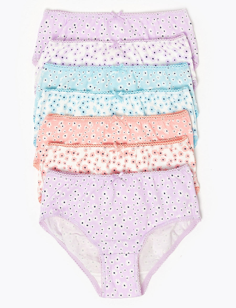 7 Pack Cotton Floral Knickers