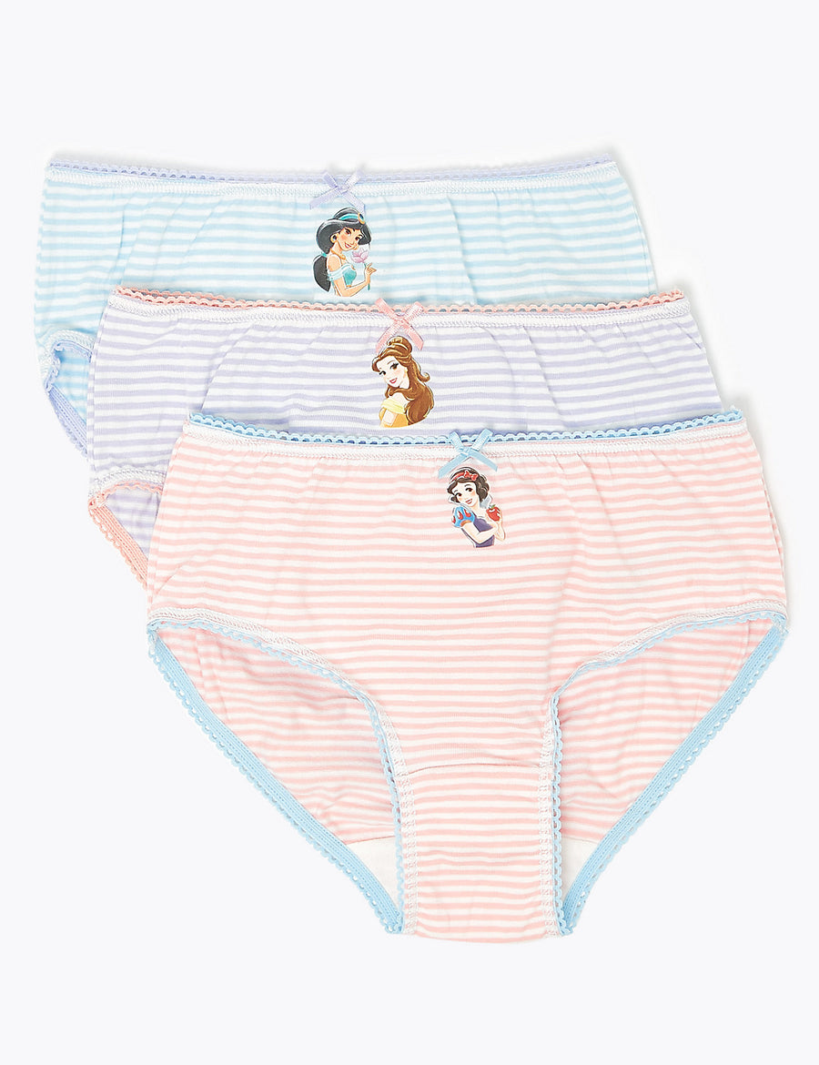 7 Pack Disney Princess Knickers