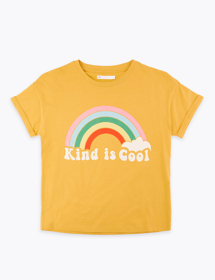 Cotton Kind is Cool Slogan T-Shirt