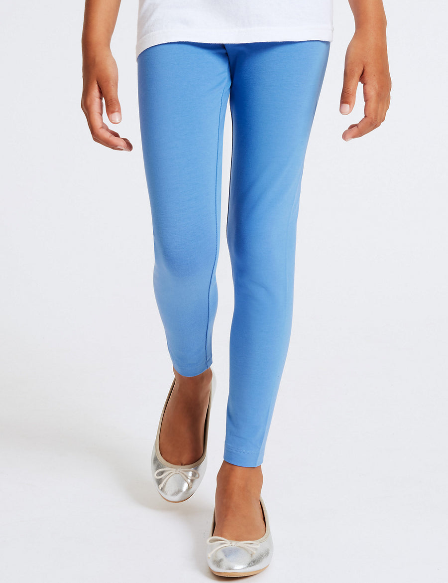 5 Pack Cotton Leggings with Stretch