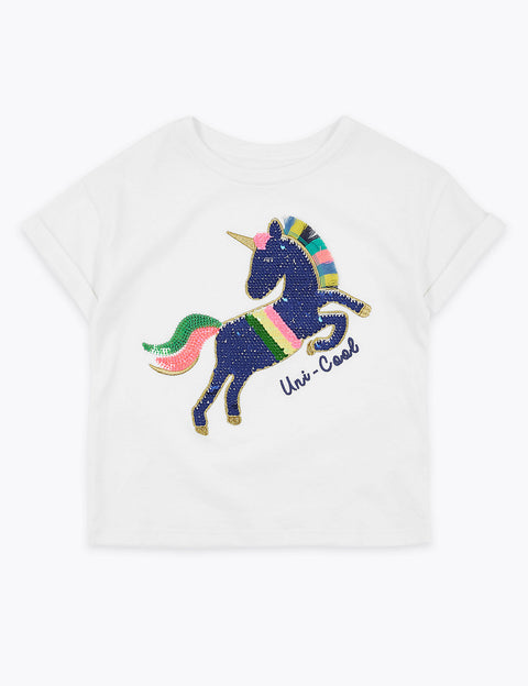 Reversible Sequin Unicorn T-Shirt