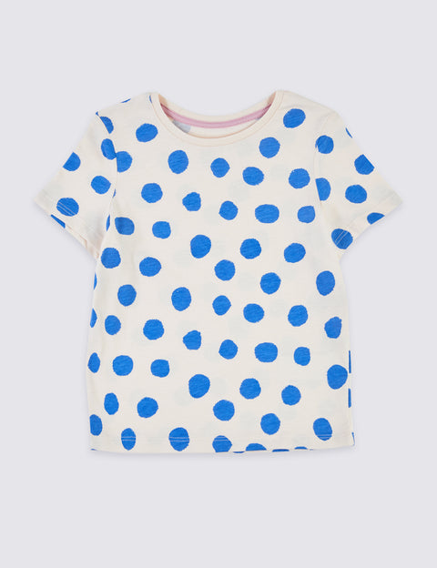 Pure Cotton Spot Print T-Shirt