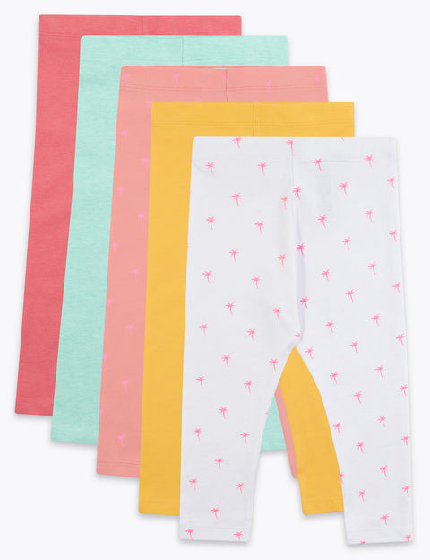 5 Pack Cotton Leggings