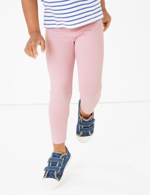 Cotton With Stretch Plain Leggings