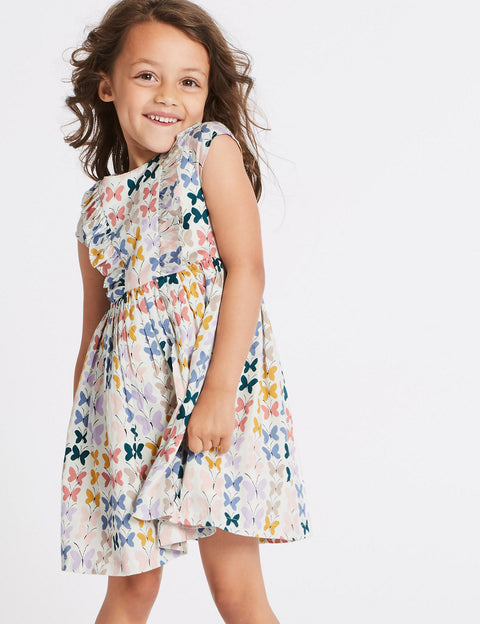 Pure Cotton Butterfly Print Dress