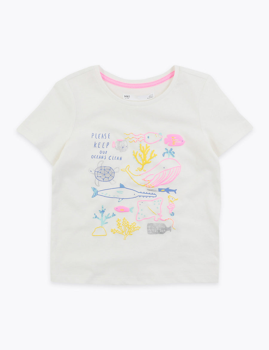 Cotton Sealife Creatures T-Shirt