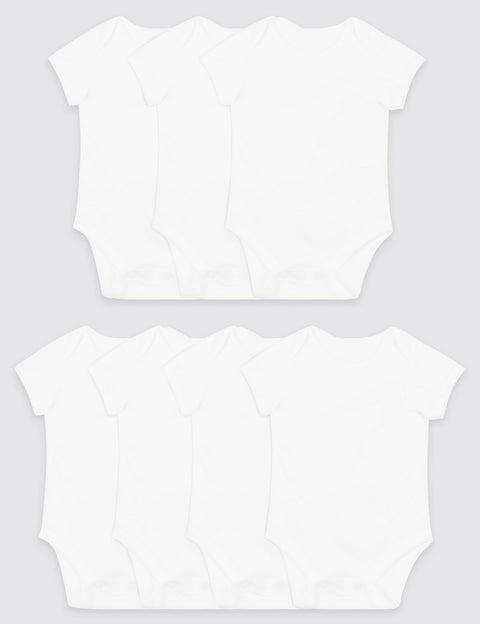 7 Pack Organic Pure Cotton Bodysuits