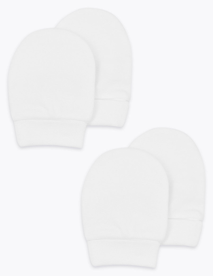 2 Pack Organic Cotton Mittens