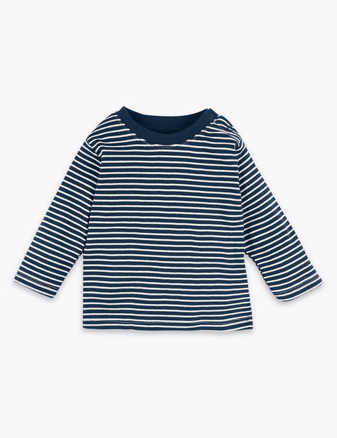 3 Pack Organic Cotton Striped Tops