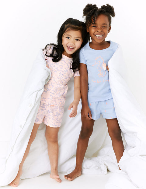 2 Pack Pure Cotton Short Pyjama Set