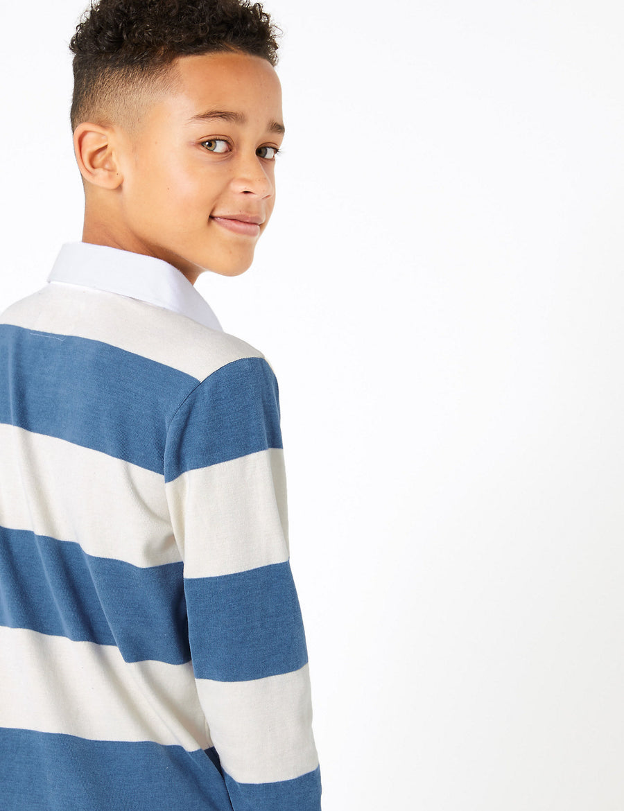 Cotton Striped Rugby Top
