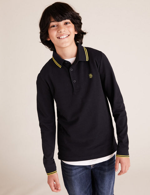Pure Cotton Plain Polo Shirt