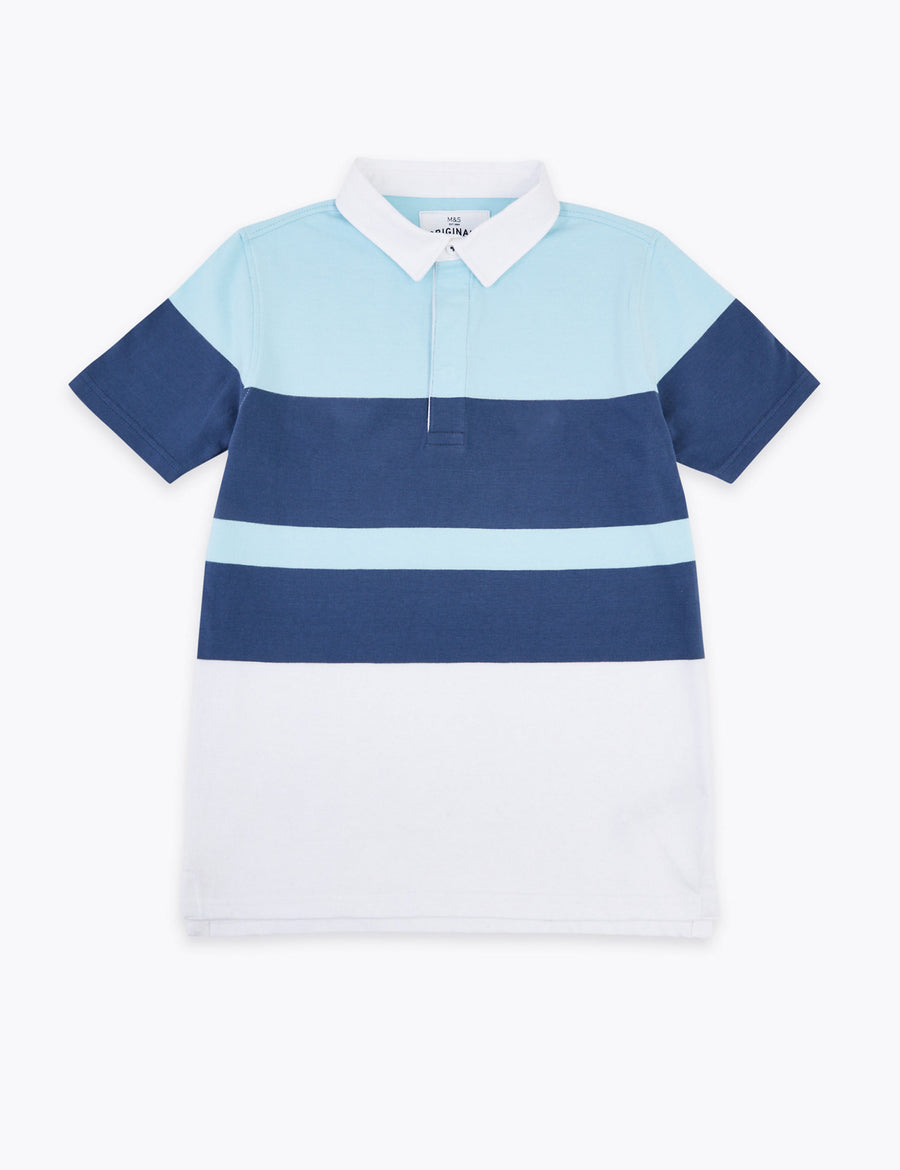 Cotton Colour Block Rugby Top