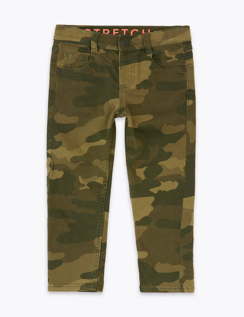 Cotton Camouflage Jeans