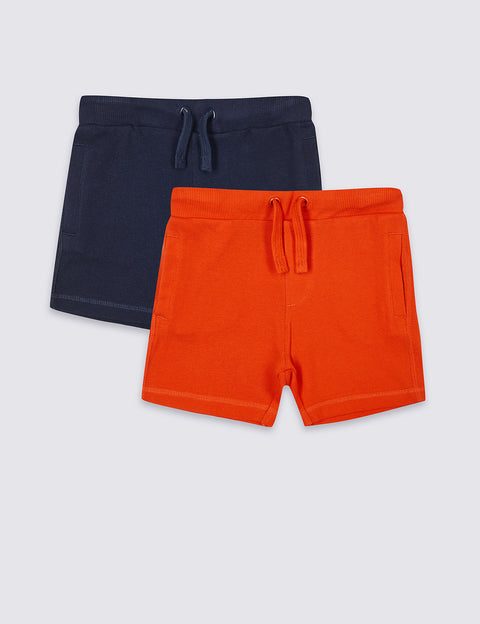 2 Pack Pure Cotton Shorts