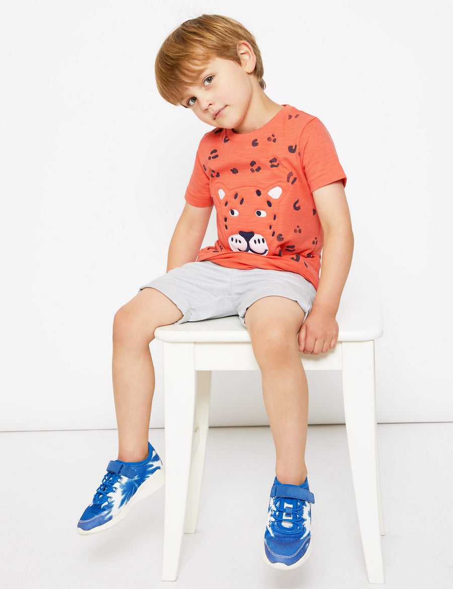 Pure Cotton Leopard T-Shirt