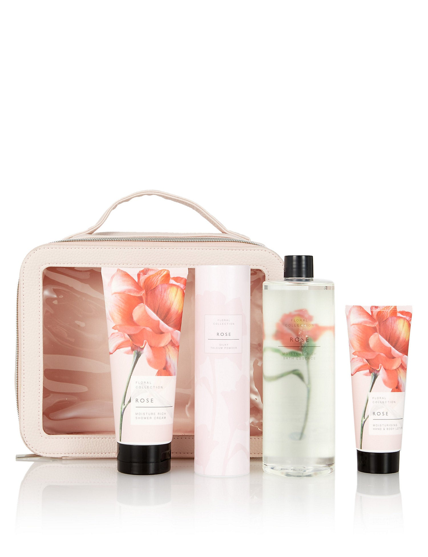Rose Toiletry Bag Gift Set