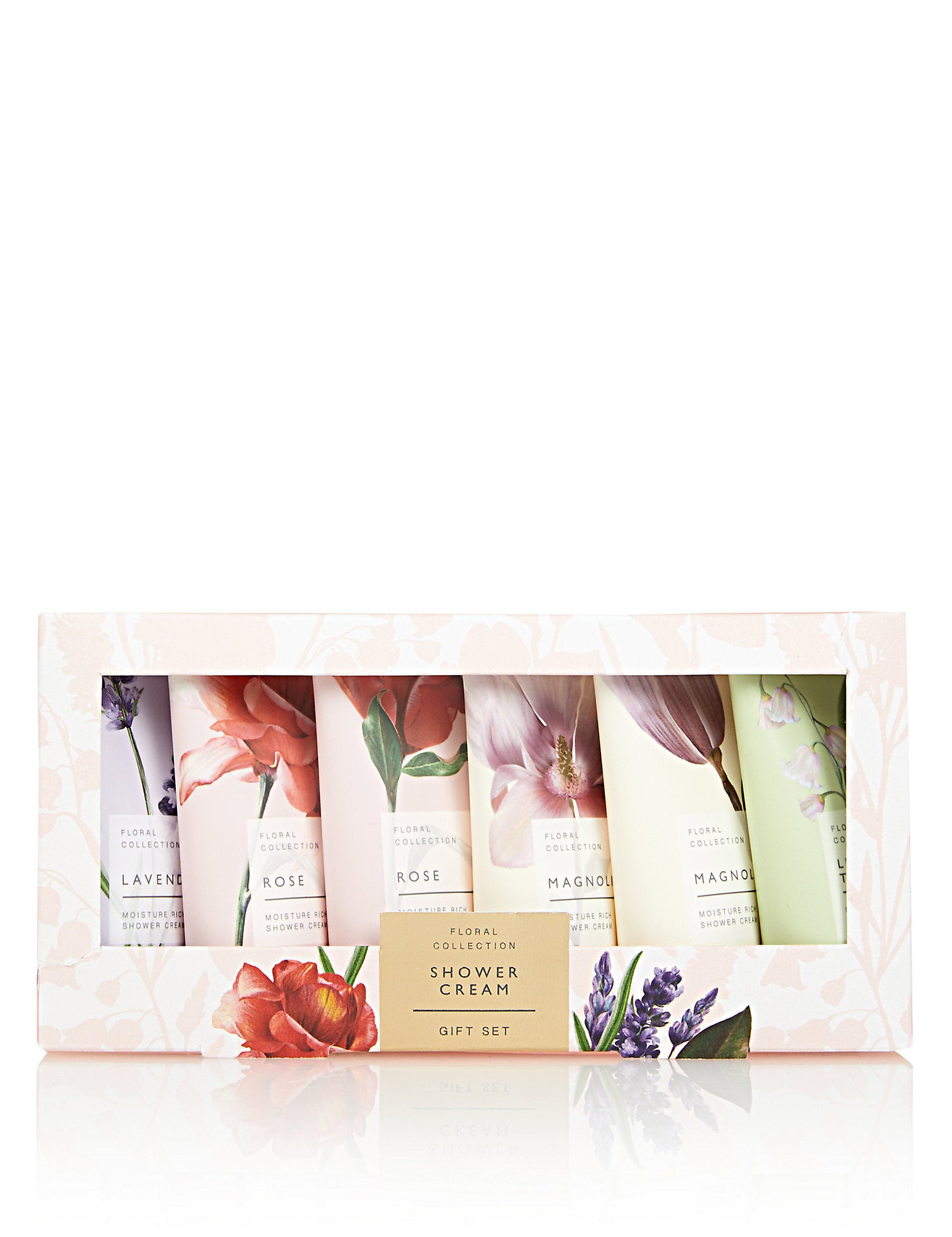Floral Collection Shower Cream Set