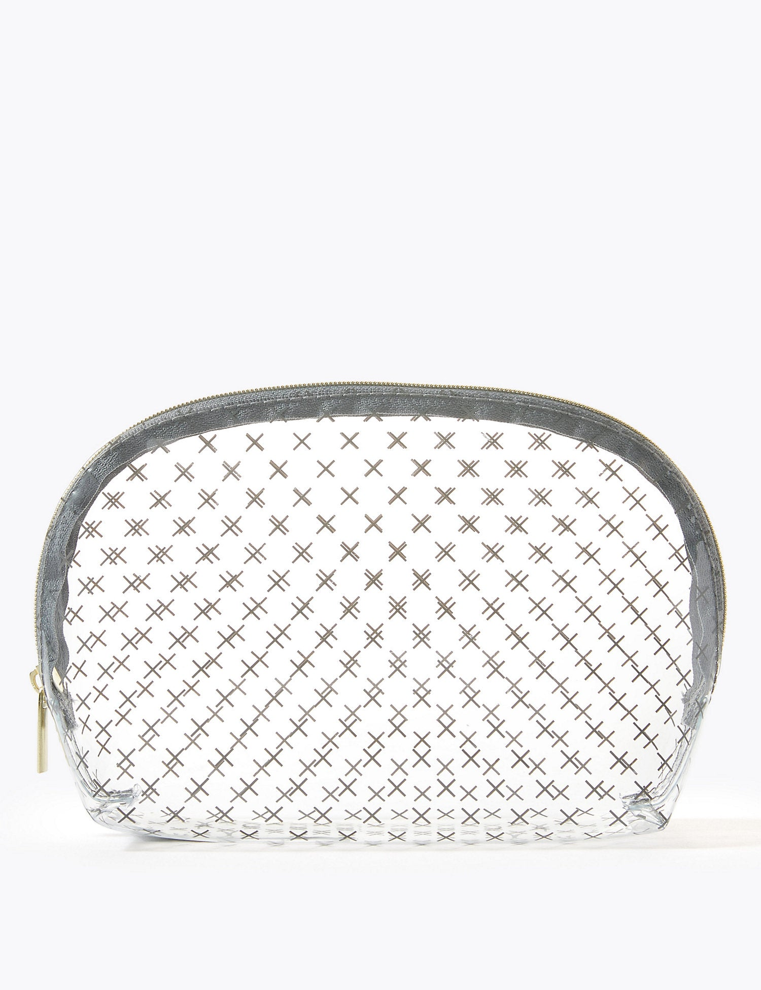 Clear Cross Make-Up Bag