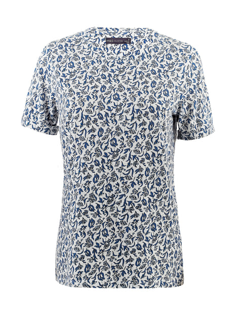 Short Sleeved Floral Top