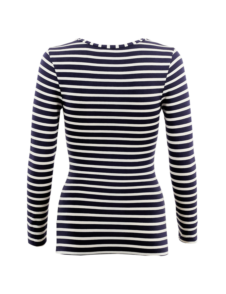 Heatgen Thermal Long Sleeve Striped Top