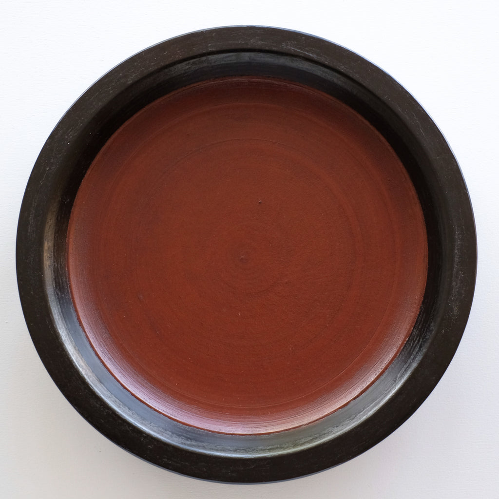 赤木明登  パン皿 大 (Red+Black)  Akito Akagi Bread Plate L-size ( Red+Black )