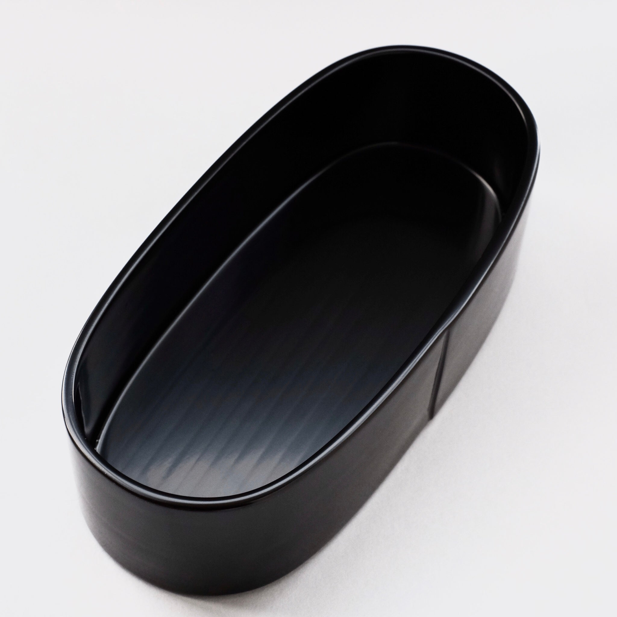 赤木明登  曲輪弁当 (黒) Akito Akagi   Oval bento box L ( black )