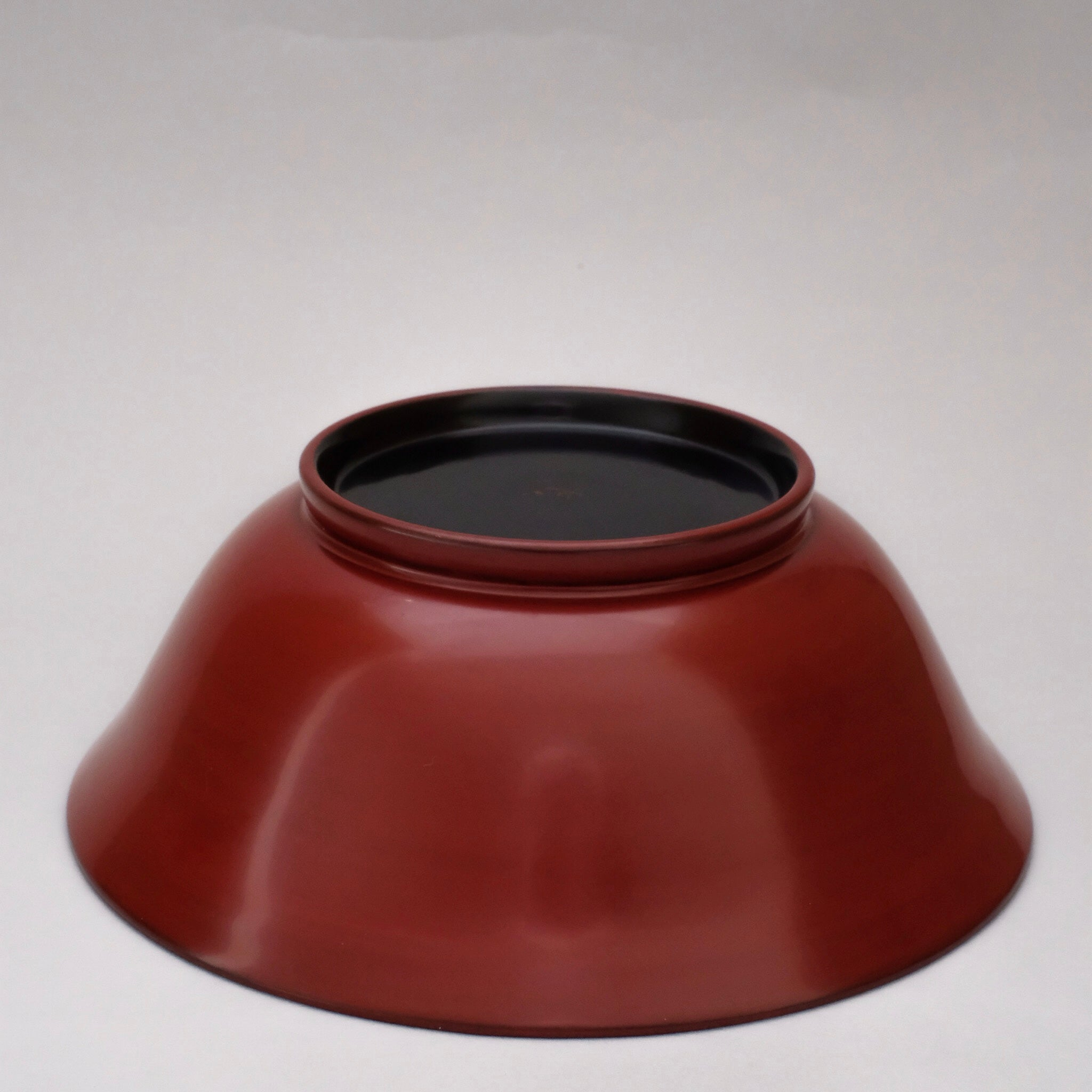 赤木明登  日々葉反椀 大 (赤)  Akito Akagi Nichinichihazori outward-curving bowl L ( red )