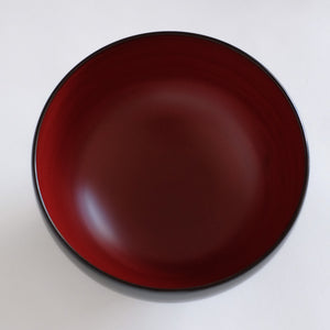 赤木明登  秀衡三つ椀  (内赤)  Akito Akagi  Hidehira three nested bowls (Red/black)
