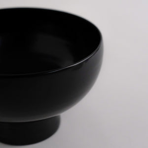 赤木明登 奥羽飯椀 小 (黒)  Akito Akagi Ouu Rice bowl S ( Black )