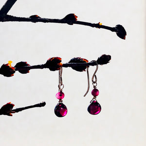 Golden Garnet Dangles