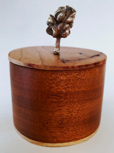 Magnolia Pod & Cherry Wood Box