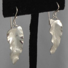 Hammered Leaf Earrings