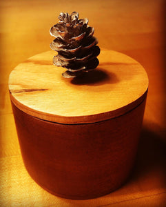 Pine Cone & Cherry Wood Box