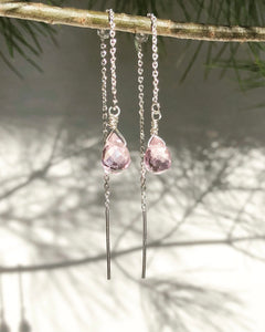 Rose Quartz Threaders