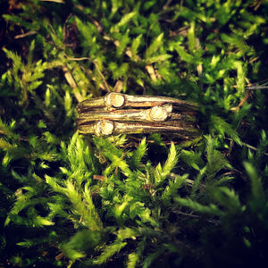Solid Gold Twig Rings