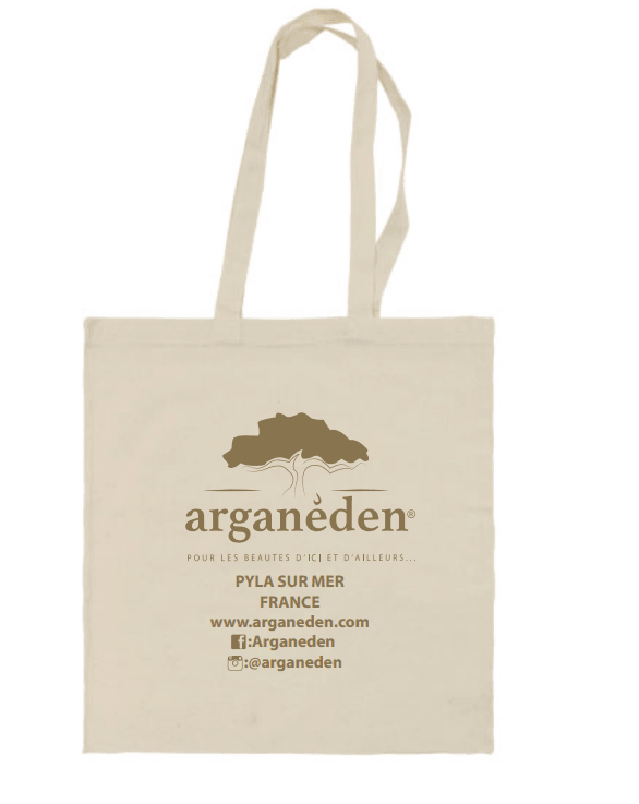 SAC ARGANEDEN EN COTON NATUREL, QUALITE SUPERIEURE
